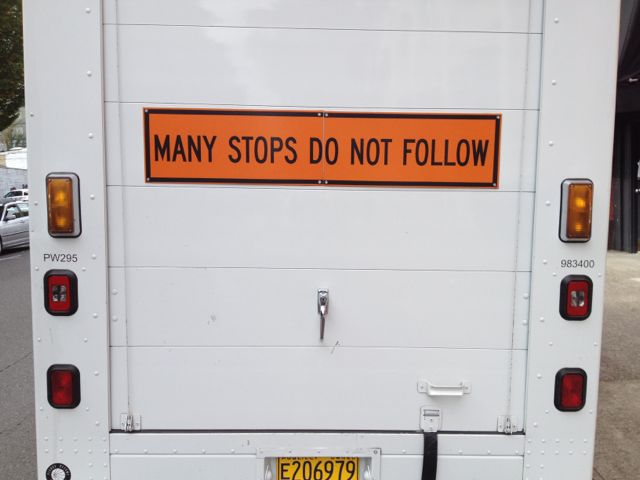 Many Stops Do Not Follow
