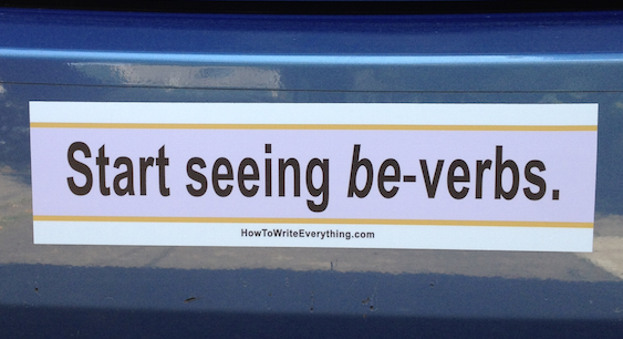 Start seeing be-verbs bumper sticker