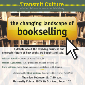 Changing Landscape of Bookselling panel at PSU
