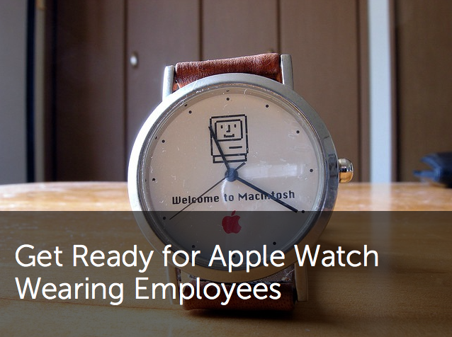 Apple watch wearing employees