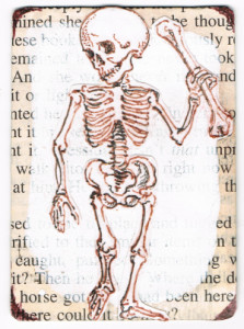 skeleton with sentences