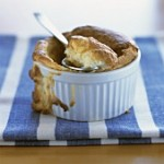 souffle with spoon