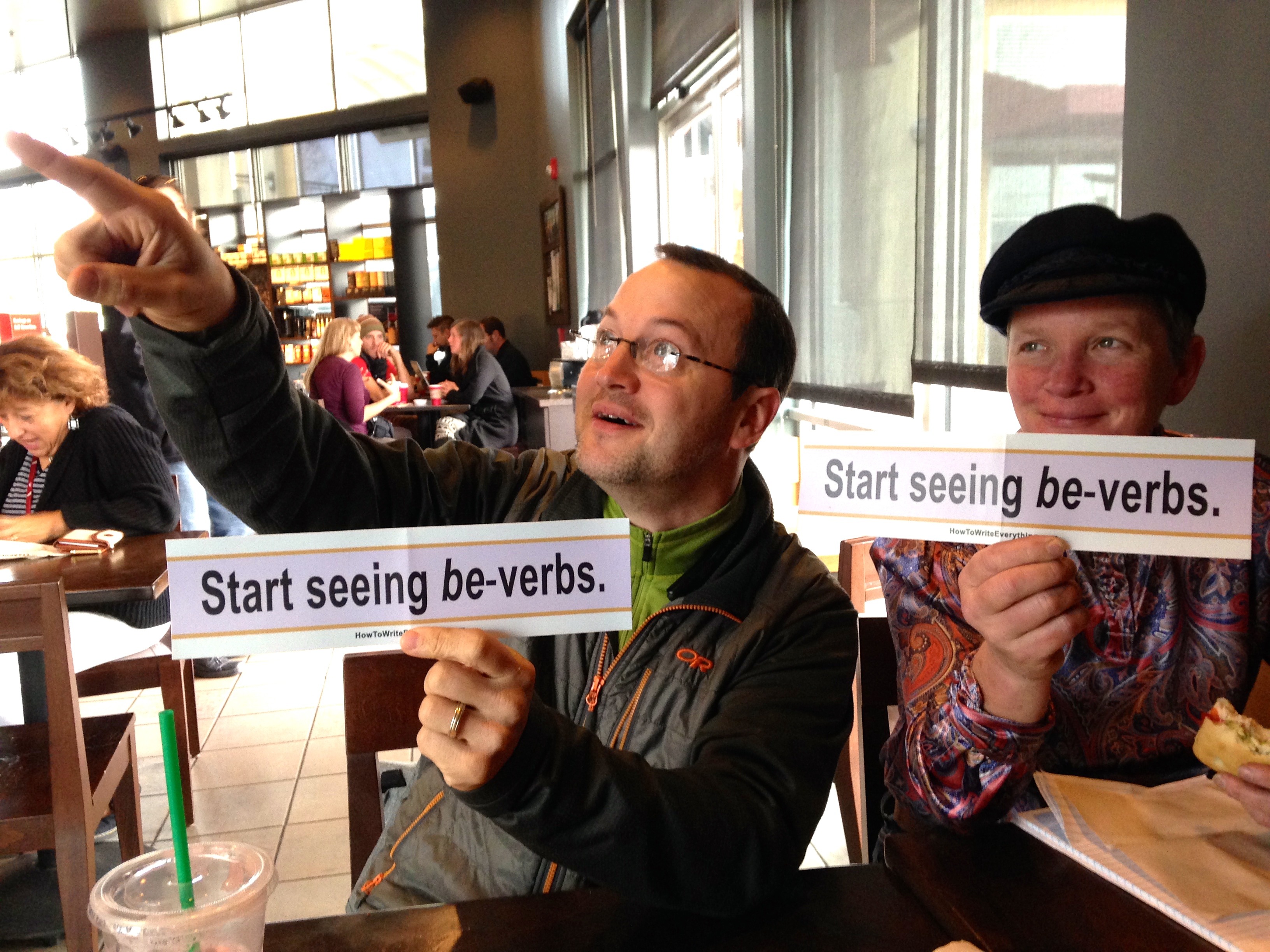 Be-verbs: they're everywhere. See? Will Fleming and Jodie Gilmore know.