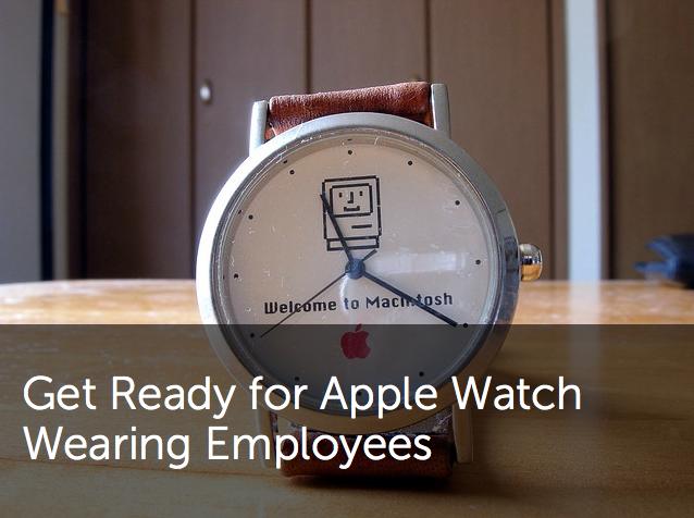 Apple watch wearing employees